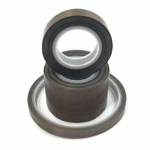 5//8//10//13//15//19//20//25//30mm x 0.13mm x 10M PTFE Adhesive Tape Nonstick M/_M/_S