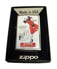 Zippo Custom Lighter Windy GIRL Fan Test Vintage Poster Regular High Chrome