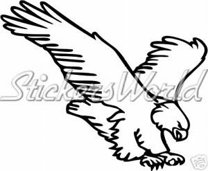 EAGLE-Raptor-Bird-of-Pray-Vinyl-Bumper-Sticker-Decal-ANY-COLOR-170mm-6-7-034