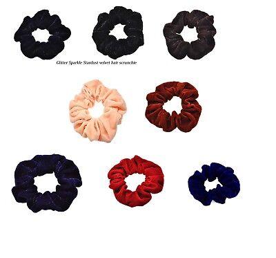 Black Velvet Scrunchie Hair Elastics Hair Bobbles Hair Bands Luxury Velvet