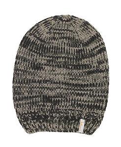 Grobstrick Mütze Freaky Heads Beanie Wintermütze Melange Mit Logo Aufnäher p27 Unparteiisch