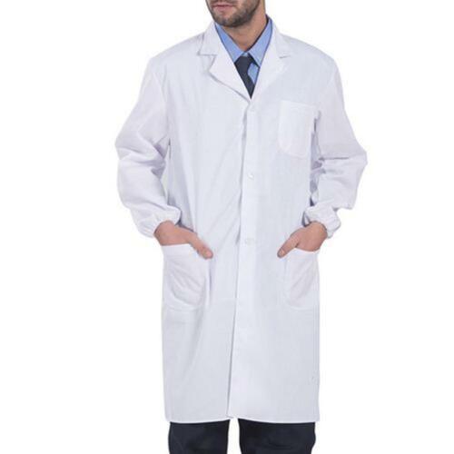 Donne Donne Scrubs Lab Coat Medico Medico Infermiera Cappotto Bianco Uniform