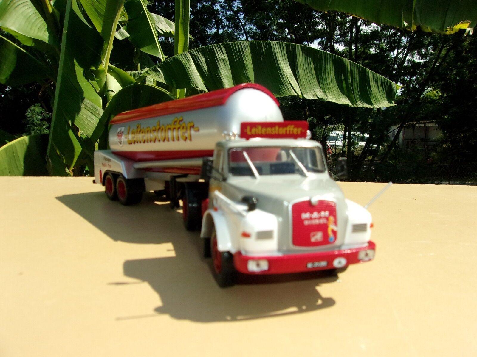 n° 88  MAN 19.240 Hauber Camion Semi Remorque Citerne  1/43 Neuf | Paquet Solide Et élégant