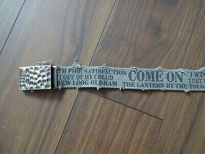 *** Z Design *** Da Donna Tela Cintura-stoffa Cintura Con Fibbia - 115 Cm-grigio-mostra Il Titolo Originale Modelli Alla Moda
