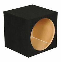 Q-power 10 Single Sealed Car Audio Subwoofer Sub Box Enclosure|12 X 12 X 12 on sale