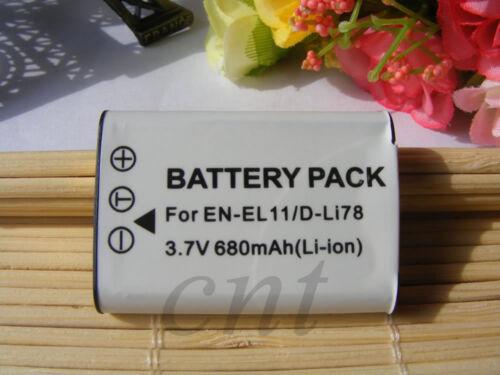 Batería para Pentax Optio M50 M60 V15 V20 W60//Ricoh DB-80 DB-L70 Caplio R50