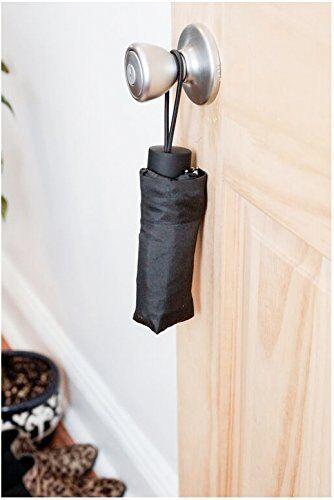 Kikkerland Mini Umbrella Black UM13-BK 6 inches long when folded weighs 6 ounces