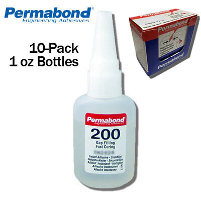 1oz 10-pack Instant Adhesive-fast Set Thick Gap Filling Modern Design Motivated Permabond 200