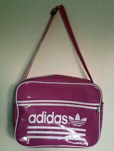 Image is loading Vintage-Retro-Adidas-Pink-Messenger-Shoulder-Bag-Large 3e4e082ce00d0