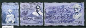INDIA-2017-Champaran-Satyagraha-Centenary-Mahatma-Gandhi-stamp-set-3v-MNH