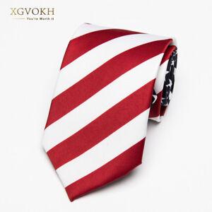 Necktie-American-USA-Tie-Flag-Print-Women-Ties-Polyester-Woven-Men-Wedding-Tie