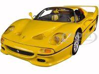 Ferrari F50 Yellow 1:18 Diecast Model Car By Bburago 16004