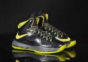 b33874f16a3 2013 Nike Lebron X QS SZ 10 Seaweed Atomic Green Dunkman James MVP ...