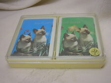 2 Cats Vintage Playing Cards Not opened Astor All Plastic Cards Siamese Cats