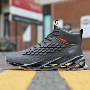 Men-s-Springblade-Sneakers-Basketball-Shoes-Casual-Breathable-HighTop-Trainers