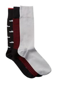 COLE-HAAN-Men-039-s-Combed-Cotton-3-Pack-NWT-Socks-Shoe-Size-7-12-Stripes-Shoes-Fun