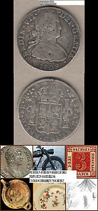 stampsdealer-Mexico-8-Reales-1809-CHINESE-CHOPMARKS-CHINESISCHE-GEGENSTEMPEL