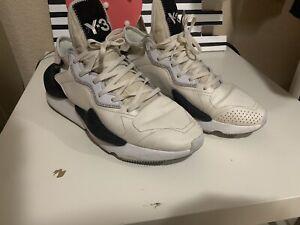 Adidas-Y-3-Yohji-Yamamoto-Men-039-s-Kaiwa-Clear-White-Trainers-Sneakers
