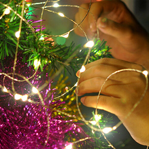 DC 12V Starry Fairy Lights With Micro LEDs 2//5//10m Silver Wire Multiple US Plug