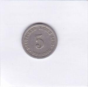 5-Pfennig-1892-D-Deutsches-Reich-German-Empire
