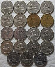 Canada 1937-1952 5 Cents Date Set Complete, 19 Coins Total, Old KGVI Dates