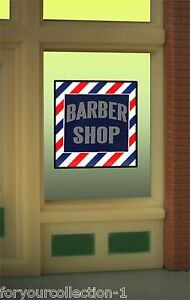Barber Shop Napa : Millers Barber Shop Animated Neon Window Sign #8930 O/O27 HO scale ...