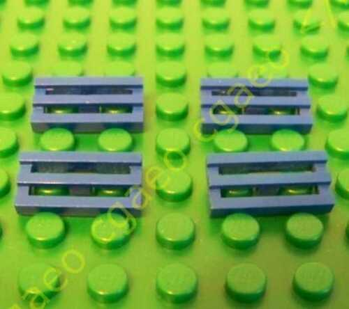 4 X Lego  2412 Tile blue Modified 1 x 2 Grille