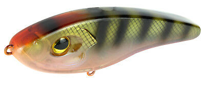 7 Stück Made in USA Spro  Fat Papa 7cm Chart Belly Soft Bait,Barsch,Forelle