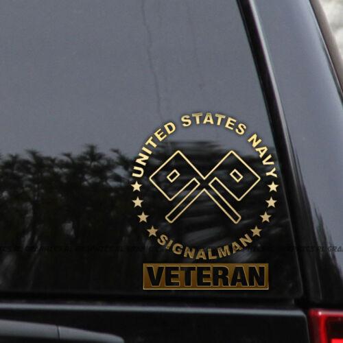 US Navy Signalman Decal Sticker Rating MOS Veteran Window Laptop
