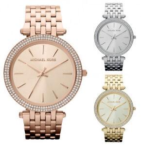 MICHAEL-KORS-mujer-Darci-Glitz-Cristal-Detalle-Reloj-Acero-Inoxidable