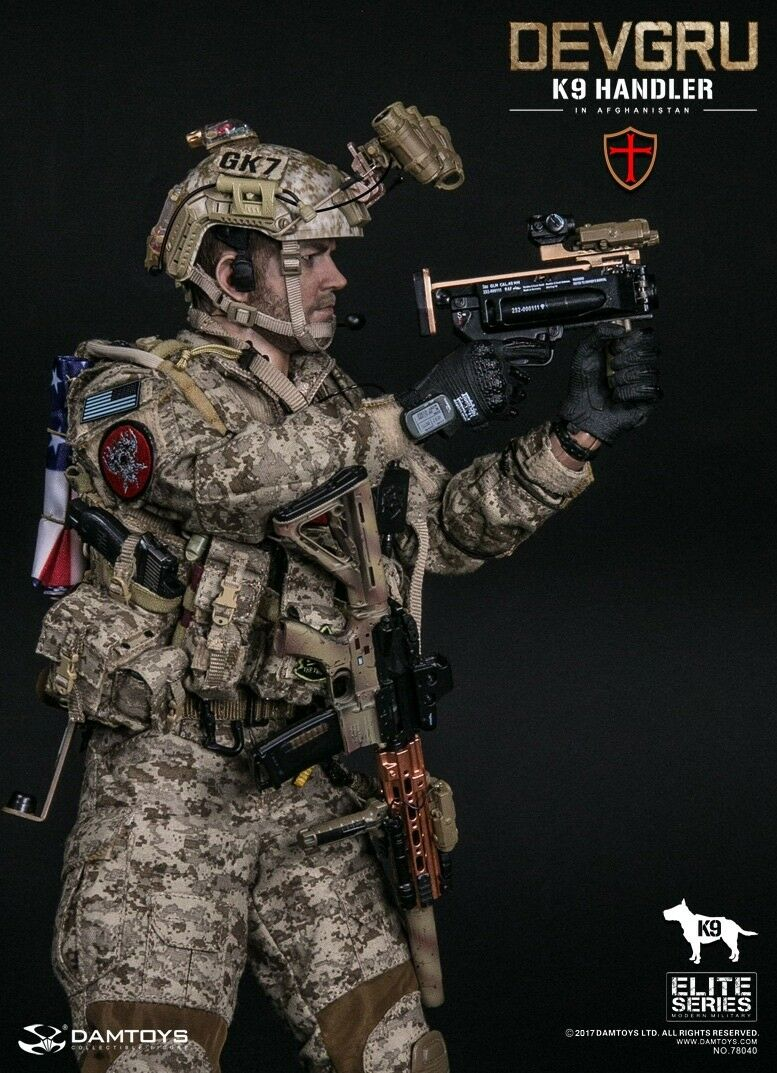 DAM Toys Elite Series US NAVY DEVGRU K9-handler in Afghanistan 1/6 Figure
