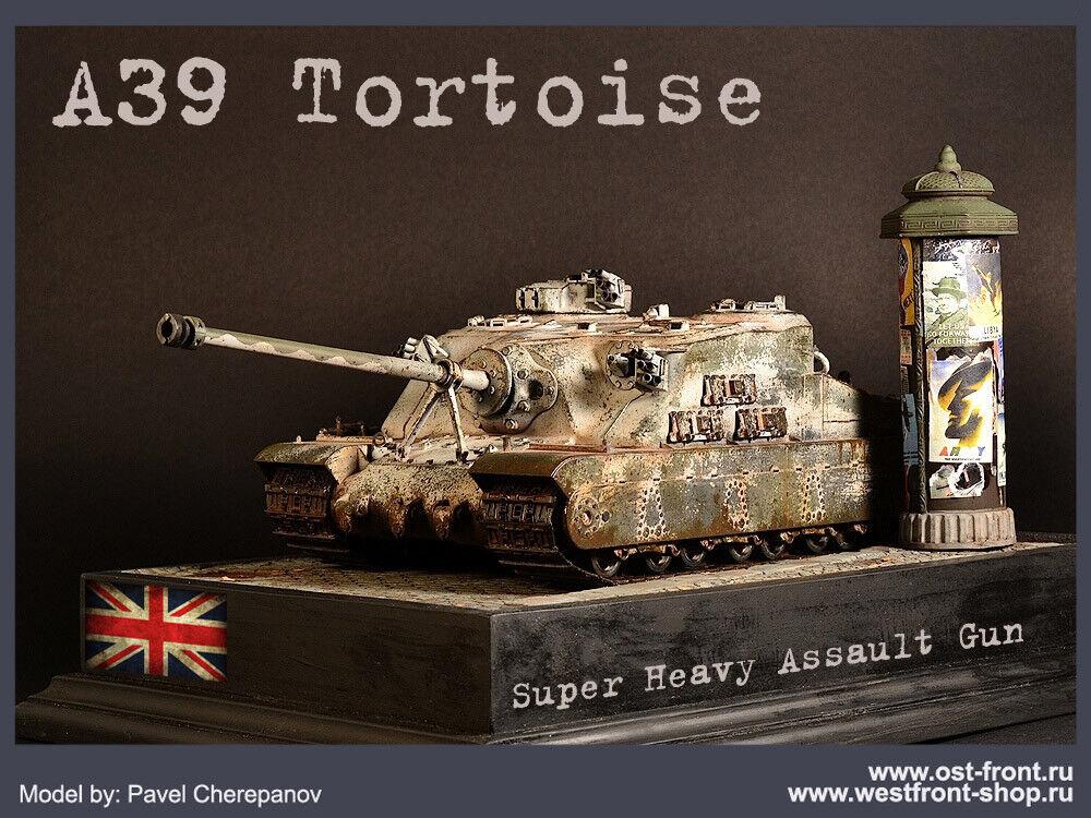 PRO-BUILT 1 35 A39 Tortoise British heavy tank model (PREORDER)