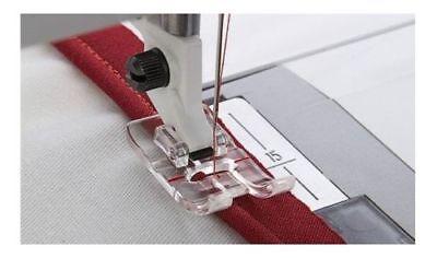 CLEAR PIPING FOOT FITS  HUSQVARNA VIKING SEWING MACHINES #4130971-45