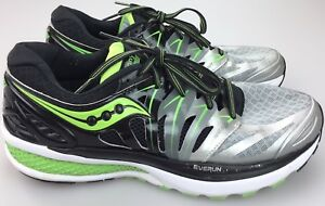e338509c Details about Saucony Hurricane ISO 2 Mens Running Shoes Size 10 S20293-1  Green Black Silver