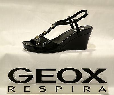 Scarpe donna Sandali GEOX ROXY D1196E C.NERO 35 41 PELLE   eBay