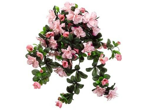 "13/"" Artificial Azalea Silk Flower Bush Plants Decor  507 Pack of 12"