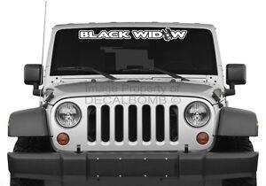 BLACK-WIDOW-034-outline-034-spider-windshield-decal-sticker-rzr-diesel-race-drag-vinyl