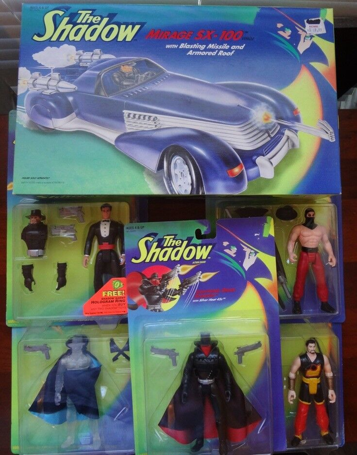 The Shadow 1990's 1990's 1990's action figure lot of 9 with Mirage