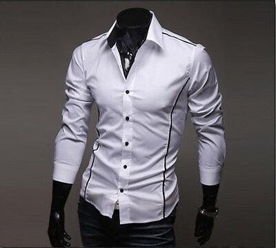 MERISH Herren Hemd Slim Fit  Größe S-XXL 3 FARBEN Neu T-Shirt Polo Style Hemd 05