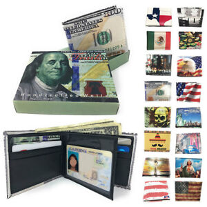 Printed-Designs-Bifold-Wallets-in-Gift-Box-Cash-Card-ID-Slots-Mens-Womens-Youth