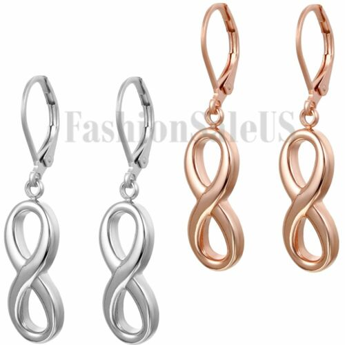 Womens Stainless Steel Infinity Forever Love Dangle Stud Earrings Wedding Gift