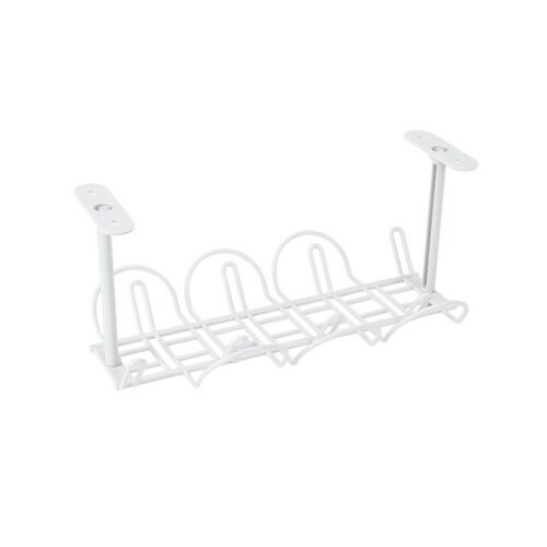 Power Storage Rack Plug Wire Organizer Holder Table Bottom Hanging Shelf Chic
