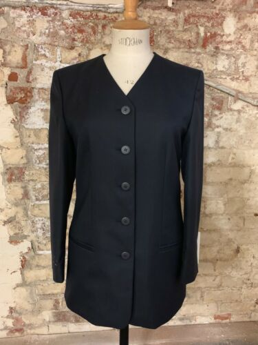 Collarless Jacket *Clearance* Navy ladies Five Button Size 14R Fully Lined