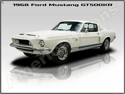 1968 Ford Mustang Eleanor Tribute GT 500 New Metal Sign Fully Restored