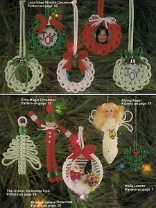 Details About Macrame Christmas Ornament Patterns Knots Of Fun For The Holidays Craft Book