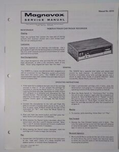 Original Magnavox 1K88770 8-Track Cartridge Recorder Service Manual on computer wiring, keyboard wiring, gauge wiring, speaker wiring, tube wiring, sensor wiring, tonearm wiring, power wiring, plug wiring,