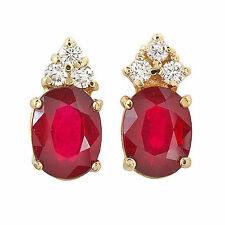 5.0 ctw Ruby & Diamond Earrings set in 14k solid gold