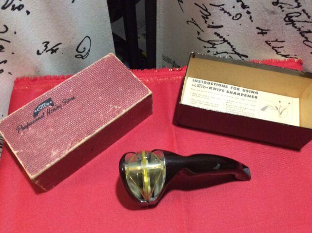 Vintage Cutco Professional Honing Stone Knife Sharpener With Original Box Rare