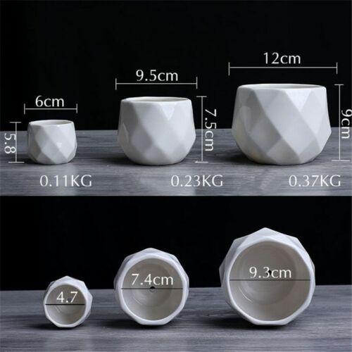 Ceramic Pot Diamond Geometric Flowerpot Plant Container Home Decoration Bonsai