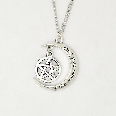 2015 'TO THE MOON AND BACK Moon ' With personality anchor Pendant Alloy Necklace